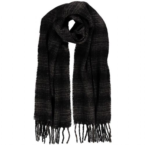O'NEILL WOMENS SCARF.NEW ENDLESS CHECK BLACK WARM LONG FRINGED SCARVE 7W 64 9910